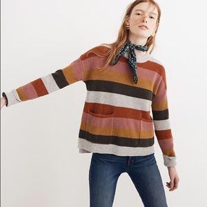 Madewell Patch Pocket Pullover in Stripe